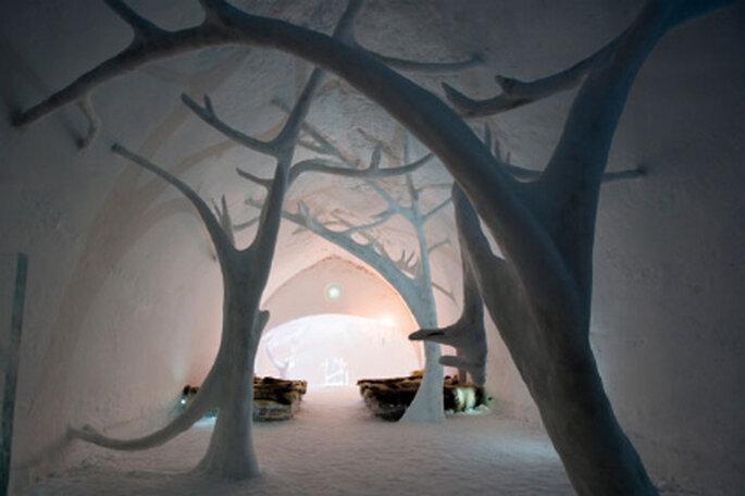 Capela de gelo - Icehotel na Suécia