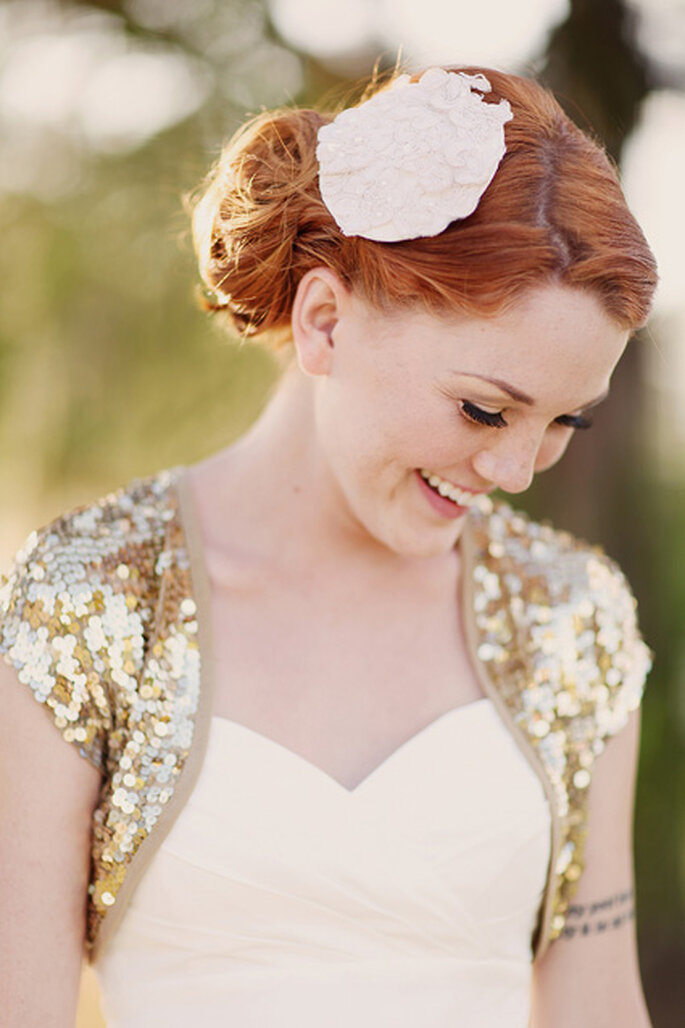 Inspiración en oro para boda. Foto de Shannon Nicole Smith.