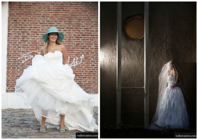 Novias en diferentes escenarios con su vestido de boda. Foto: Walter Carrera.