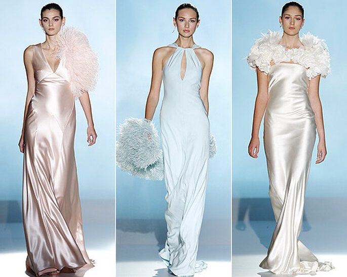 Rosa Clarà 2013 propose des robes de mariée en satin de couleur pastel. Photo: www.rosaclara.es