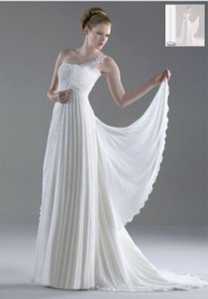 Vestido de novia - Esther Rodríguez - Vestido largo de gasa y seda