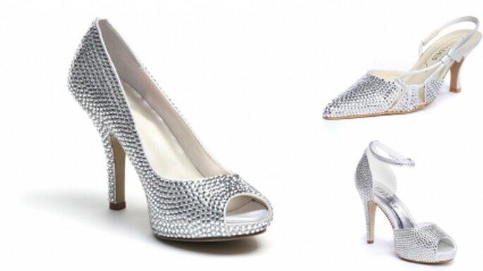 zapatos para novia con incrustaciones de cristales