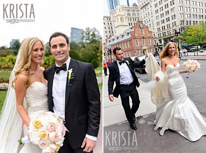 Boda en la ciudad de Boston, MA. Foto: Krista Photography