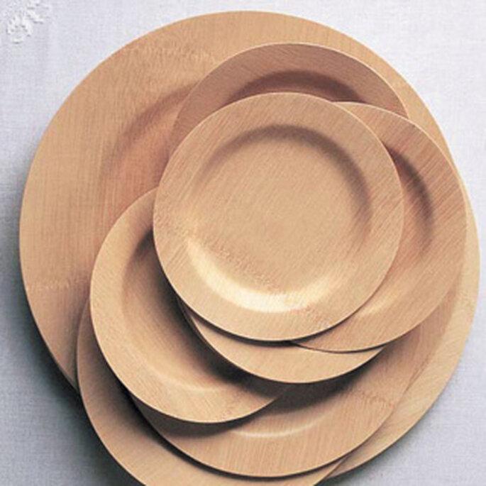 Platos de bambú
