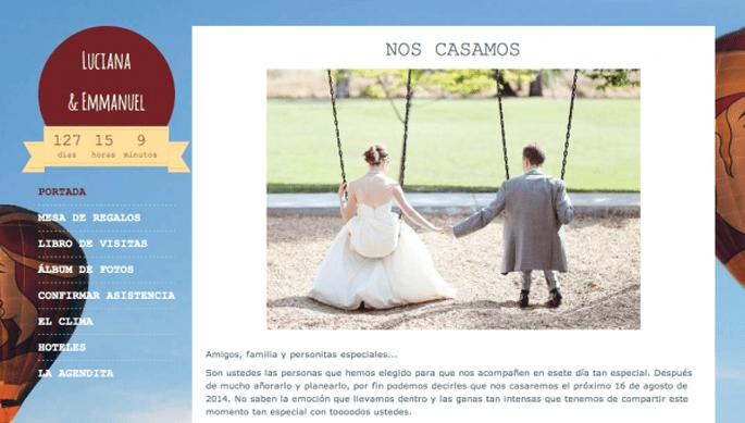 Página web de boda Zankyou