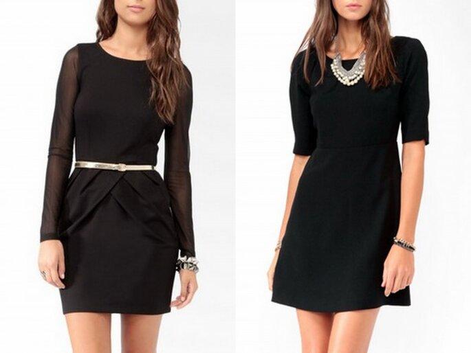 Vestidos en color negro Low cost de Forever 21. Foto Forever 21.com