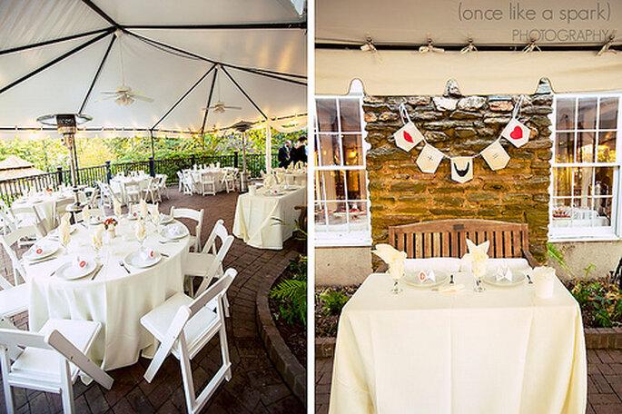 Déjeuner de mariage : ambiance champêtre chic garantie - Photo : Once like a spark