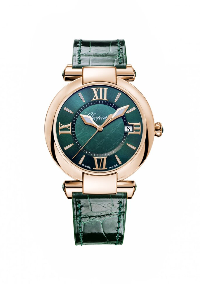 Relógio por Chopard.