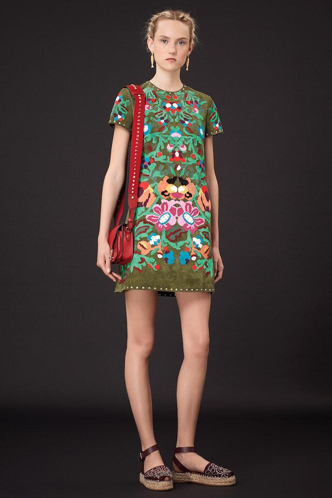 Vestidos de fiesta inspirados en la cultura mexicana - Valentino Resort 2015