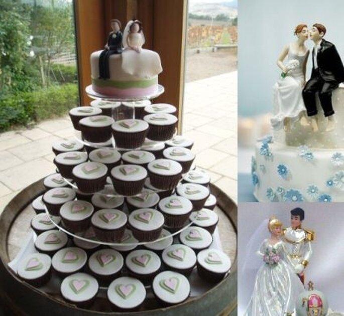 Las parejitas para la torta pueden ser la representación de algo que exista en común entre los novios.
