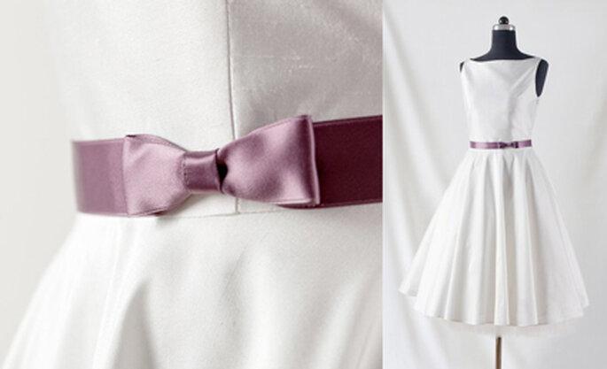 2 Schlichtes Brautkleid im 50er Jahre Stil von Noni Mode.