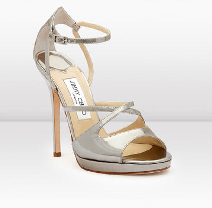 Frost, sandali in argento con piattaforma