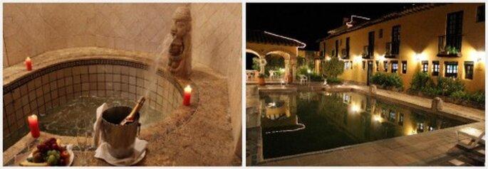 Piscina principal y minipiscina de agua termal del Hotel Hacienda del Salitre. Fotos: www.tripadvisor.es