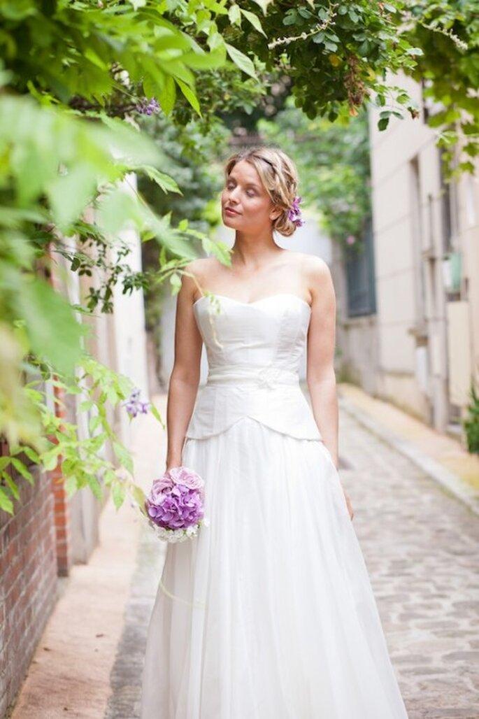 Robe de mariée Les Corsets d'Aëlle 2013, modèle Deborah - Photo : Florence Akouka - FleurdeSucre photographie