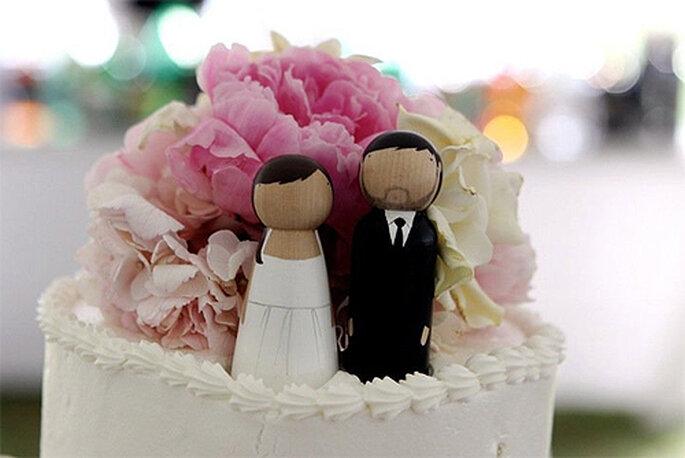 Muñecos personalizados para la tarta de bodas, de Goose Grease Shop
