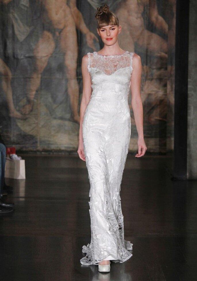 Vestido de novia con encaje - Foto Claire Pettibone