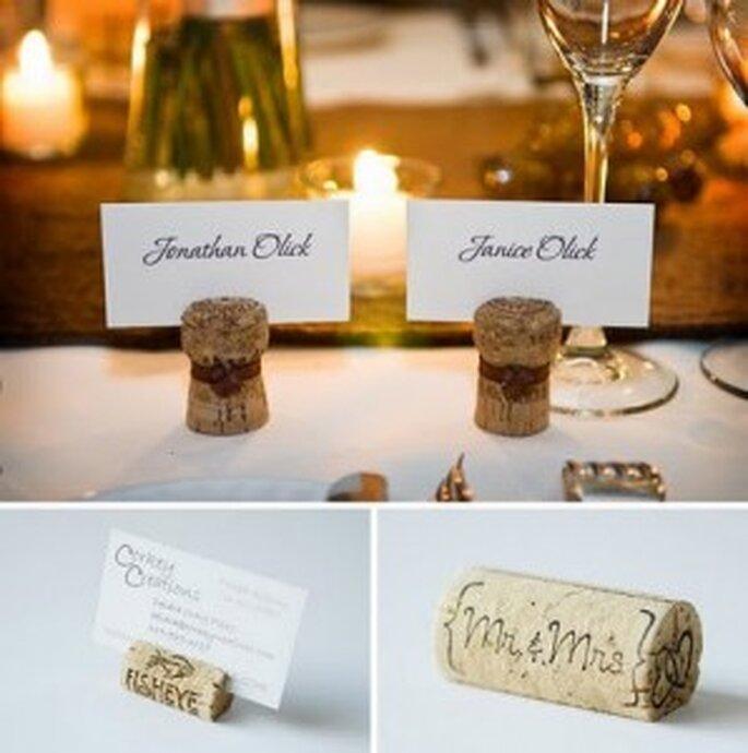dekoracje ślubne z korka