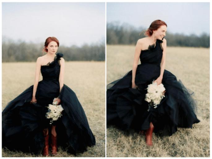 Inspiración en blanco y negro para tu look de novia - Foto Jose Villa