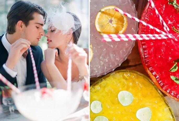 Tragos y jugos fríos para tu boda de verano
