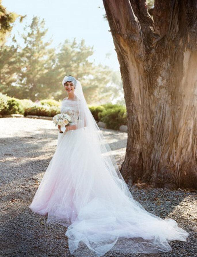 Watercolor Wedding Ide... Anne Hathaway Wedding Dress