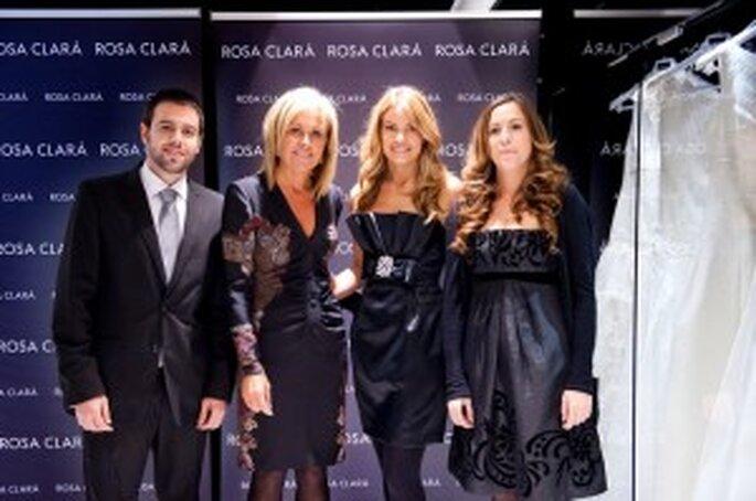 Rosa Clará y Carla Goyanes en la inauguración de la nueva tienda en Zaragoza
