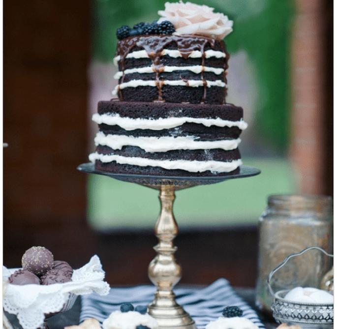 El naked cake, la tendencia más deliciosa en pasteles de boda - Foto IYQ Photography