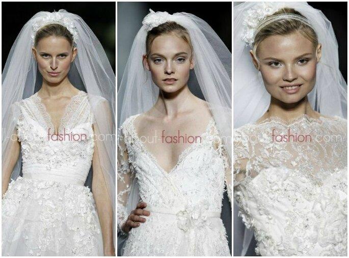 Tanto pizzo per la sposa che vuole sentirsi una principessa. Elie Saab per Pronovias 2013. Foto www.all-about-fashion.com