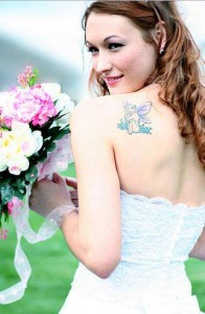 La novia con tatuaje. ¿Por qué no mostrar el tatuaje?