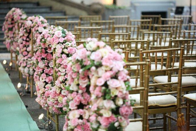 różowe dekoracje slub wesele