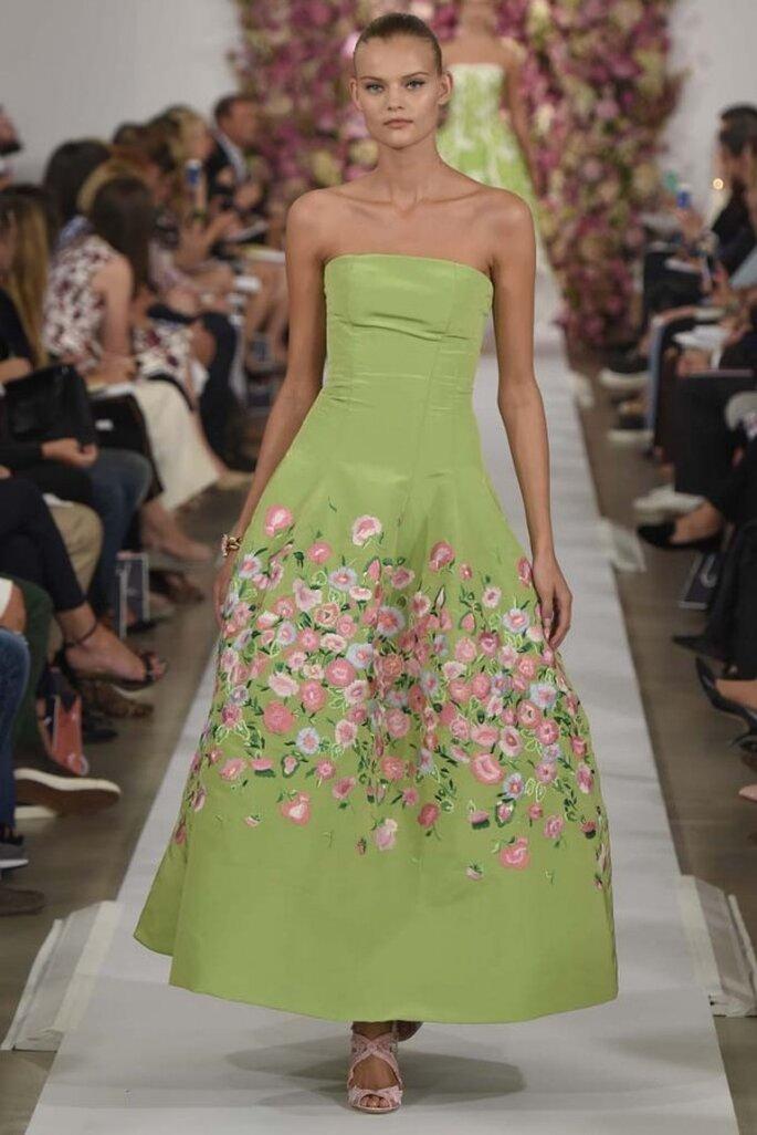 Elegantes y femeninos vestidos de fiesta primavera 2015 - Foto Oscar de la Renta