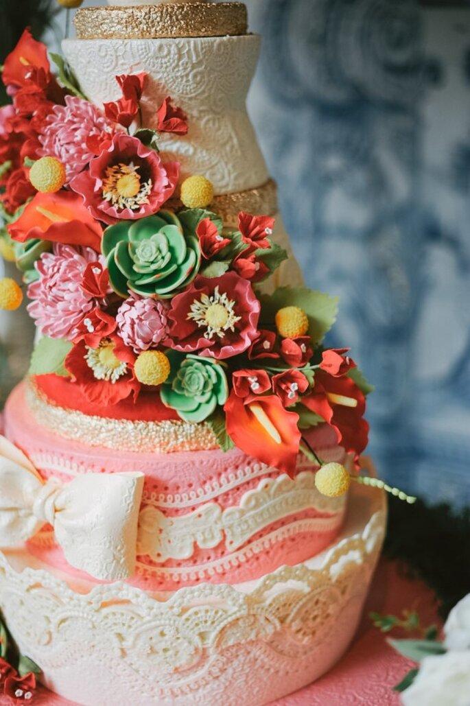 Pasteles de boda que romperán esquemas en 2015 - Foto Sargeant Creative