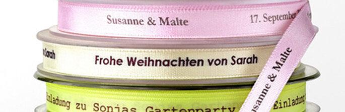 Personalisierbares Schleifenband von decorize.de