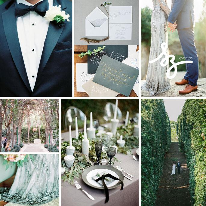 Boda decorada con colores azul y gris - Peter and Veronika3