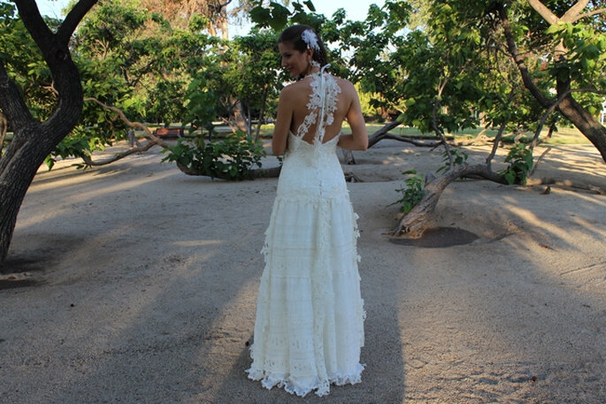 Diseño con bordado en la espalda. Foto: Macarena Palma