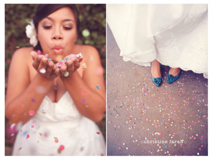 Confeti para lanzar a los novios - Foto Christine Farah