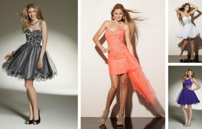 Modelli corti perfetti per un ricevimento in cui si balla fino a notte fonda! Collezione Bridesmaids by Mori Lee