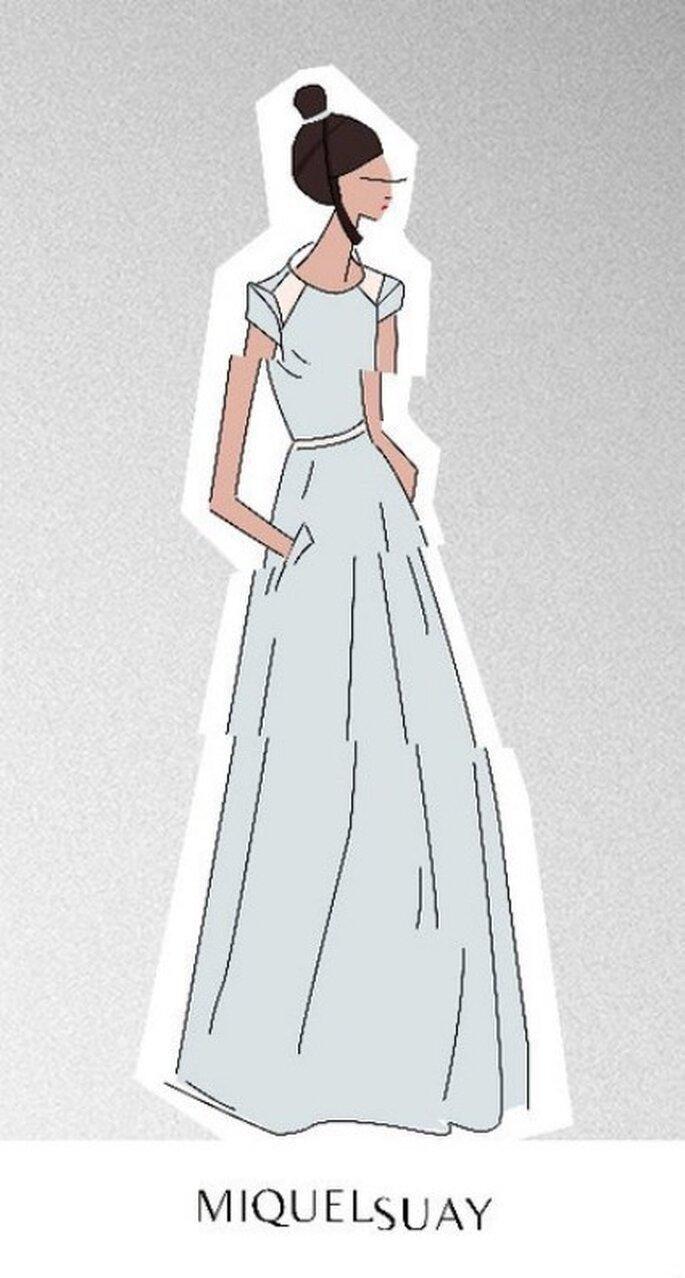 Boceto de la nueva colección de vestidos de novia Miguel Suay 2012