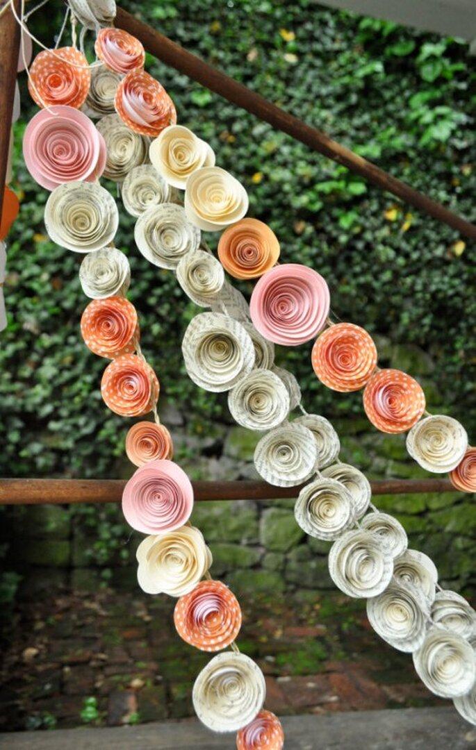 Hochzeitstrend 2014: Individuelle Deko aus verschiedensten Materialien - Foto Lille Syster