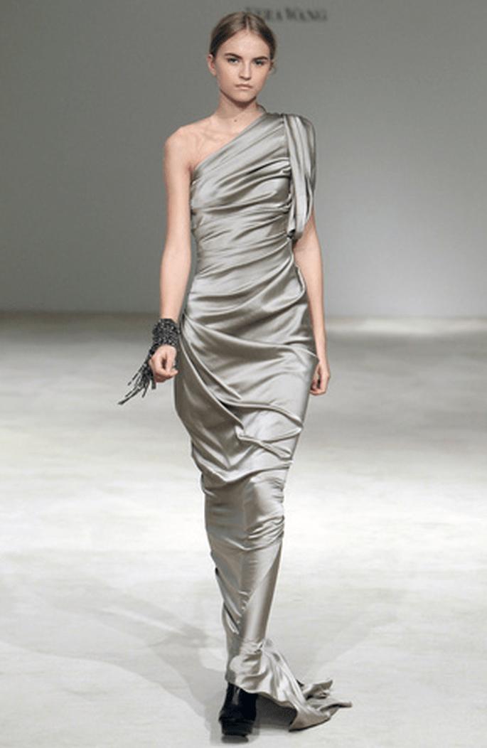 Vestido en color gris Vera Wang 2012