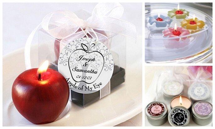 Velas aromáticas para recuerdo de boda ®weddingdepotonline.com