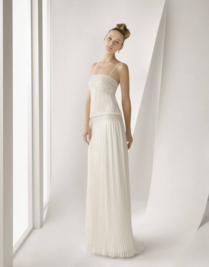 Vestido de novia de inspiración vintage. Foto: Rosa Clará