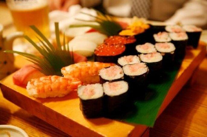 Sushi pour le cocktail de mariage - Photo: cateringcalle12