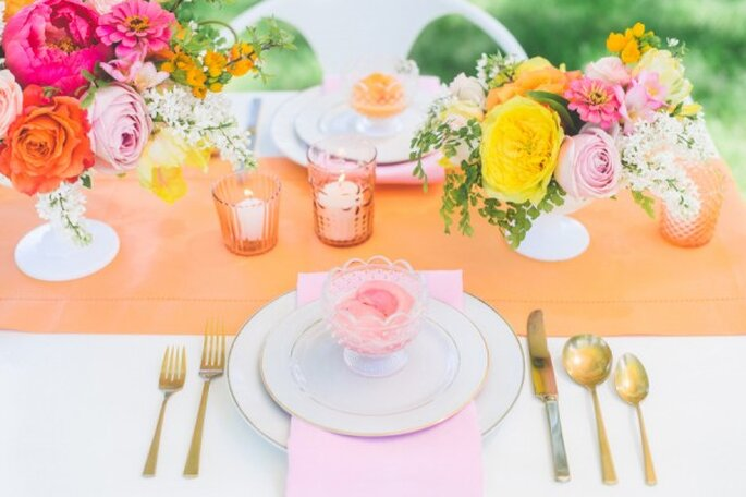 10 ideas geniales para que tu boda sea la más colorida - Paper Antler