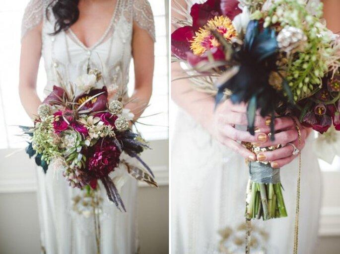 Un ramo de novia estilo art decó - Foto Dixie Pixel