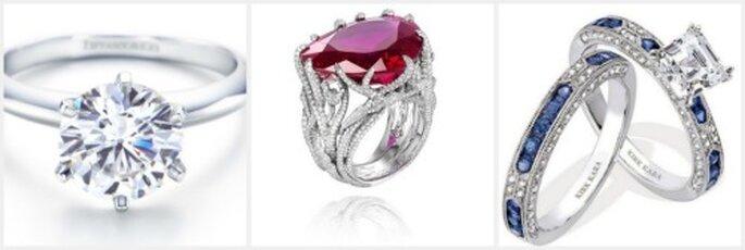 Diamantes de Tiffanys, rubí de Chopard y zafiro de Kirk Kara
