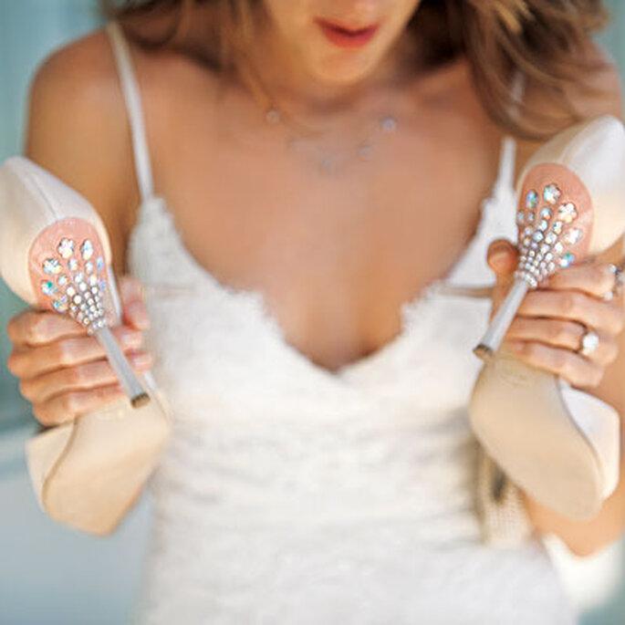 Des chaussures de mariée à la pointe de la mode - Crédits photos: Paperwhites Photography