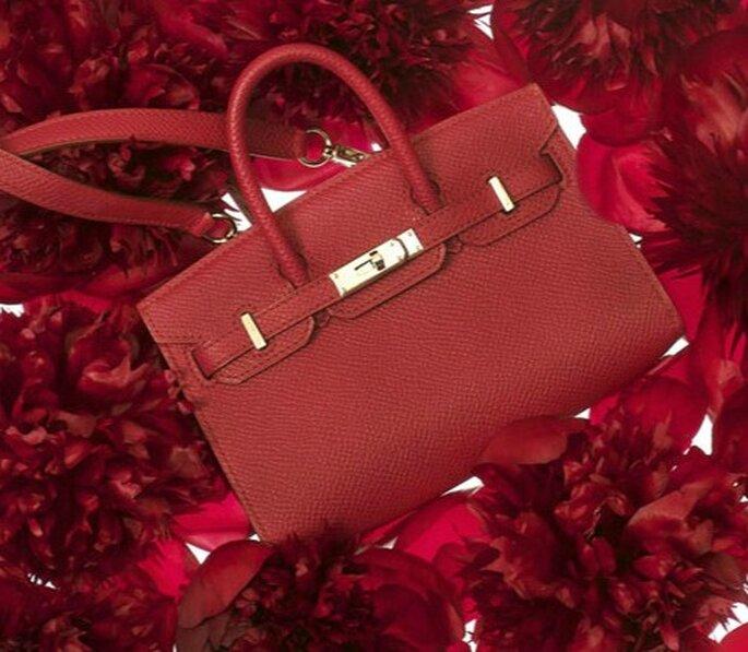 Borsa Birkin in vitello color rubino. Hermès