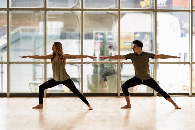 casal, exercício, atividade física