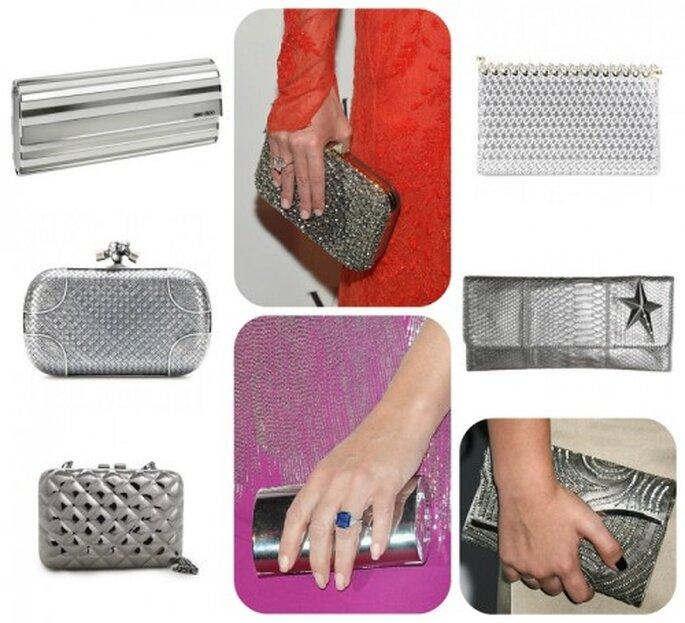 Plata, el tono glam para tu clutch de fiesta