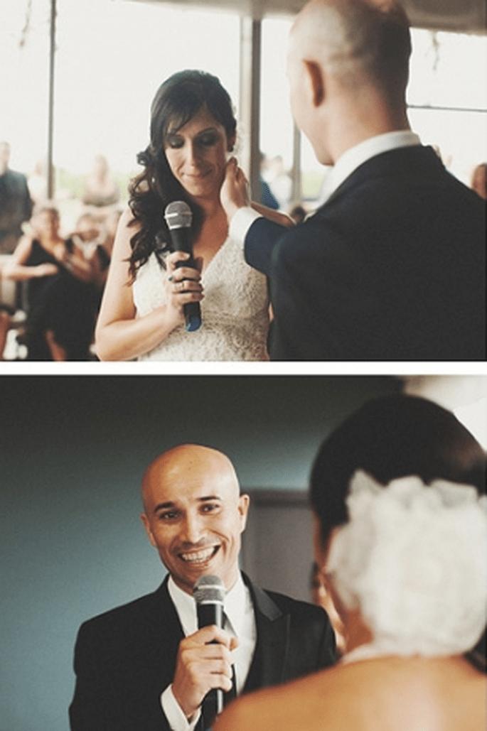 Tipps für eine gelungene Hochzeitsansprache. Foto: Fran attitudefotografia.com
